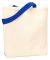 Liberty Bags 9868 Jennifer Cotton Canvas Tote NATURAL/ ROYAL