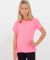 BB201 American Apparel Youth Poly-Cotton Short Sleeve Crew Neck  Neon Heather Pink(Discontinued
