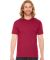 BB401 American Apparel Unisex Poly-Cotton Short Sleeve Crew Neck  Heather Red