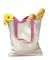 BE010 BAGedge 12 oz. Canvas Tote with Contrasting Handles NATURAL/ HOT PNK