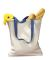 BE010 BAGedge 12 oz. Canvas Tote with Contrasting Handles NATURAL/ ROYAL
