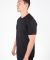MC134 Black Modal Cotton T-Shirt Side View