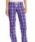 District DT2800 Juniors Flannel Plaid Pant Purple