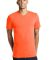 District Young Mens Concert V Neck Tee DT5500 Neon Orange