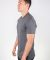 MC134 Dark Grey Modal Cotton T-Shirt Side View