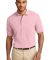 Port Authority Pique Knit Polo K420 Light Pink