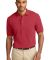 Port Authority Pique Knit Polo K420 Sunset Red