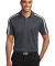 K547 Port Authority® Silk Touch™ Performance Colorblock Stripe Polo Steel Gy/White