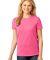 LPC54 Port & Company® Ladies 5.4-oz 100% Cotton T-Shirt Neon Pink