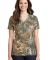 Russell Outdoor LRO54V s Realtree Ladies 100% Cotton V-Neck T-Shirt Realtree Xtra