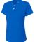 NG3143 A4 Drop Ship Girl's Tek 2-Button Henley Shirt ROYAL
