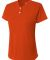 NG3143 A4 Drop Ship Girl's Tek 2-Button Henley Shirt ATHLETIC ORANGE