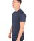 MC134 Navy Modal Cotton T-Shirt Side View