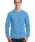 Port  Company Long Sleeve 54 oz 100 Cotton T Shirt PC54LS Aquatic Blue