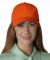 PE102 Adams Polyester Performer Cap Orange/Navy
