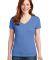 S04V Nano-T Women's V-Neck T-Shirt Vintage Blue