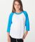 BB253 American Apparel Youth Poly Cotton Raglan