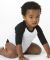 Los Angeles Apparel FF0053 / Infant Raglan White/Black