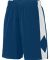 Augusta Sportswear 1715 Block Out Short Navy/ White