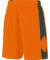 Augusta Sportswear 1715 Block Out Short Power Orange/ Slate