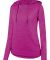 Augusta Sportswear 2907 Women's Shadow Tonal Heather Hoodie Power Pink