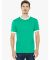 2410 American Apparel Fine Jersey Ringer Tee Kelly Green/White(Discontinued