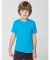 American Apparel BB101W Toddler Poly-Cotton Short-Sleeve Crewneck Neon Heather Blue