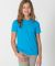 BB201 American Apparel Youth Poly-Cotton Short Sleeve Crew Neck  Neon Heather Blue(Discontinued