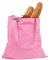 BE007 BAGedge 6 oz. Canvas Promo Tote PINK