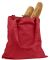 BE007 BAGedge 6 oz. Canvas Promo Tote RED