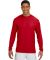 N3165 A4 Adult Cooling Performance Long Sleeve Crew SCARLET