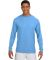 N3165 A4 Adult Cooling Performance Long Sleeve Crew LIGHT BLUE