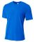 N3264 A4 Drop Ship Men's Shorts Sleeve Spun Poly T-Shirt ROYAL
