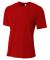 N3264 A4 Drop Ship Men's Shorts Sleeve Spun Poly T-Shirt SCARLET