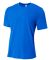 NB3264 A4 Drop Ship Youth Shorts Sleeve Spun Poly T-Shirt ROYAL