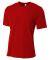 NB3264 A4 Drop Ship Youth Shorts Sleeve Spun Poly T-Shirt SCARLET