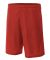 NB5184 A4 6 Inch Youth Lined Micromesh Shorts SCARLET