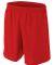 NB5343 A4 Drop Ship Youth Woven Soccer Shorts SCARLET