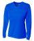 NW3255 A4 Drop Ship Ladies' Long Sleeve V-Neck Birds Eye Mesh T-Shirt ROYAL