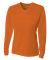 NW3255 A4 Drop Ship Ladies' Long Sleeve V-Neck Birds Eye Mesh T-Shirt ATHLETIC ORANGE
