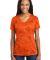 LST370 Sport-Tek® Ladies CamoHex V-Neck Tee Neon Orange