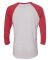 Next Level 6051 Unisex Tri-Blend 3/4 Sleeve Raglan VIN RD/ HTHR WHT