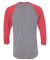 Next Level 6051 Unisex Tri-Blend 3/4 Sleeve Raglan VIN RED/ PR HTHR