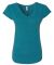 6750VL Anvil - Ladies' Triblend V-Neck T-Shirt  Heather Galapagos Blue