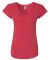 6750VL Anvil - Ladies' Triblend V-Neck T-Shirt  Heather Red