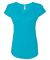 6750VL Anvil - Ladies' Triblend V-Neck T-Shirt  Heather Caribbean Blue
