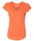 6750VL Anvil - Ladies' Triblend V-Neck T-Shirt  Heather Orange