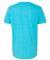 980 Anvil Combed Ring Spun Cotton T-Shirt HTHR CARIB BLUE