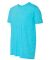 980 Anvil Combed Ring Spun Cotton T-Shirt HTHR CARIB BLUE