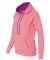 8616 J. America - Women's Cosmic Poly Contrast Hoo Fire Coral/ Magenta
